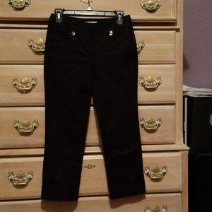 White House Black Market Black Capri Length Pants